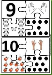Numerals 1 to 20 and puzzles
