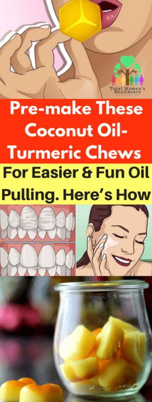 Pre-make These Coconut Oil-Turmeric Chews For Easier And Fun Oil Pulling. Here's How
