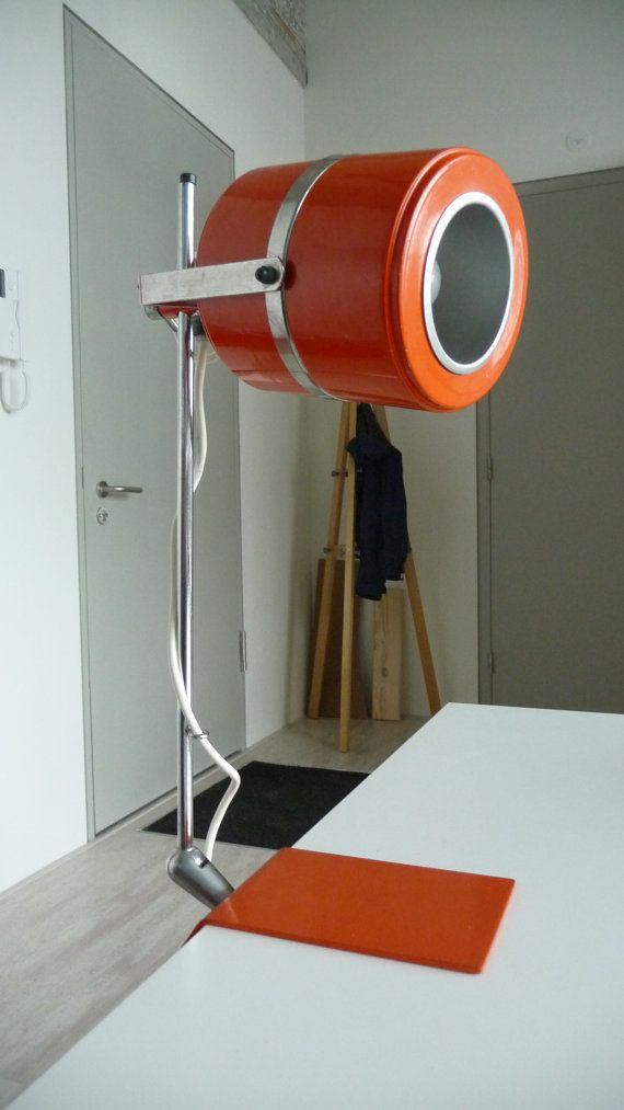 Orange atomic desklight retro lamp very cool by HereWeGoDutch, €59.00