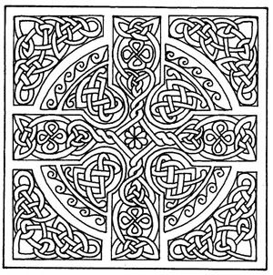 Celtic Mandala Coloring Pages Free Printable Cross Patterns Mandalas Design