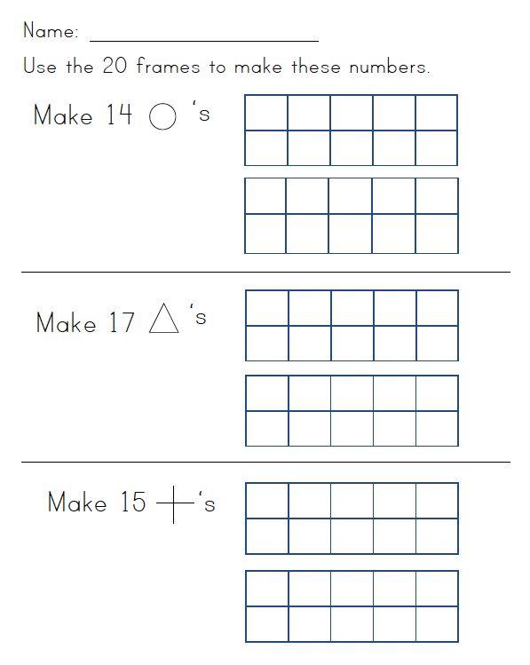 89 best Ten Frames images on Pinterest Teaching math - ten frame template