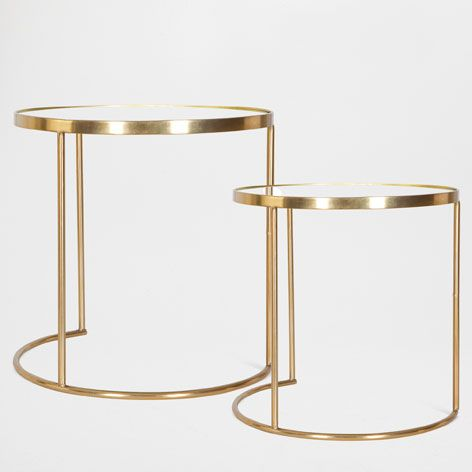 Round Nest of Tables (Set of 2) - Occasional Furniture | Zara Home United Kingdom