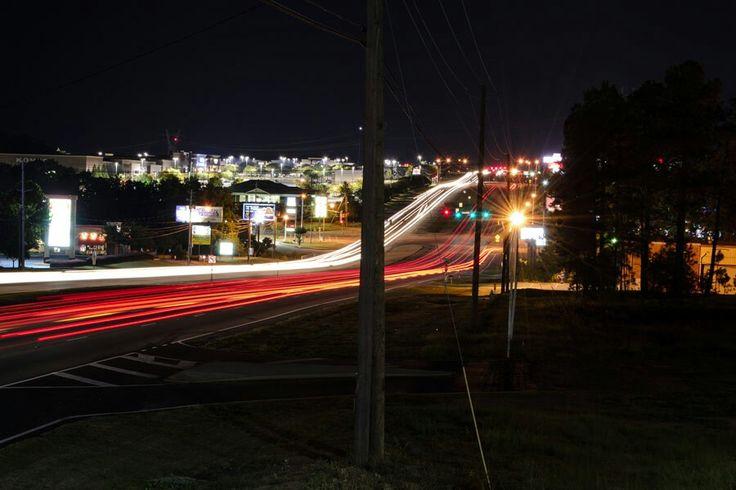 Light trails in traffic