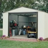 Found it at Wayfair - Murryhill 12 Ft. W x 10 Ft. D Vinyl Coated Steel Storage Shed