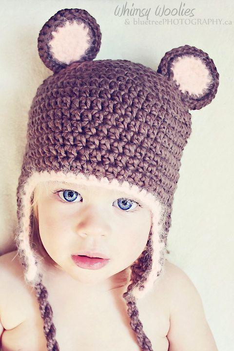 "PATTERN:  ""Fuzzy Wuzzy wuz a Bear"" Crochet hat, Toddler on Etsy, $3.91"