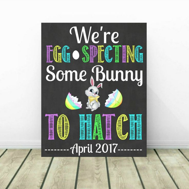 Easter Pregnancy Announcement, Easter Reveal, Easter Pregnancy Sign, Pregnancy…
