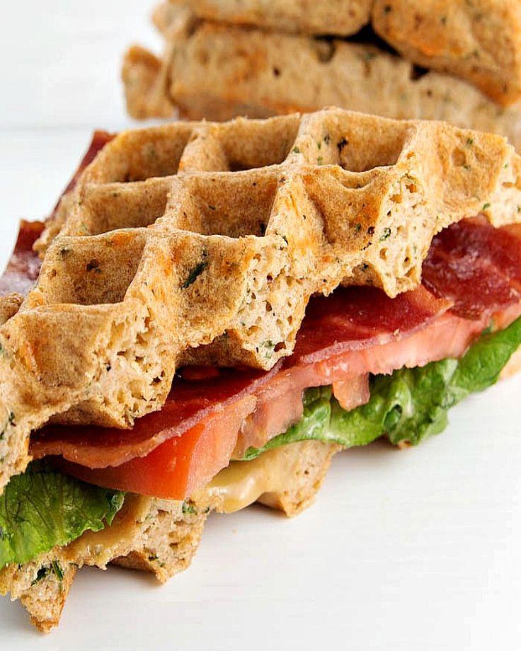 Cheddar Waffle BLT Sandwich | Fitness Food Diva