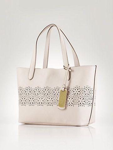 Laser-Cut Shopper - Ralph Lauren Handbags