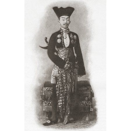 Pakubuwono X 1866 - 1939 Tenth Susuhunan Or Ruler Of Surakarta Java Indonesia From The Century Illustrated Monthly Magazine May To October 1904 Canvas Art - Ken Welsh Design Pics (11 x 18)