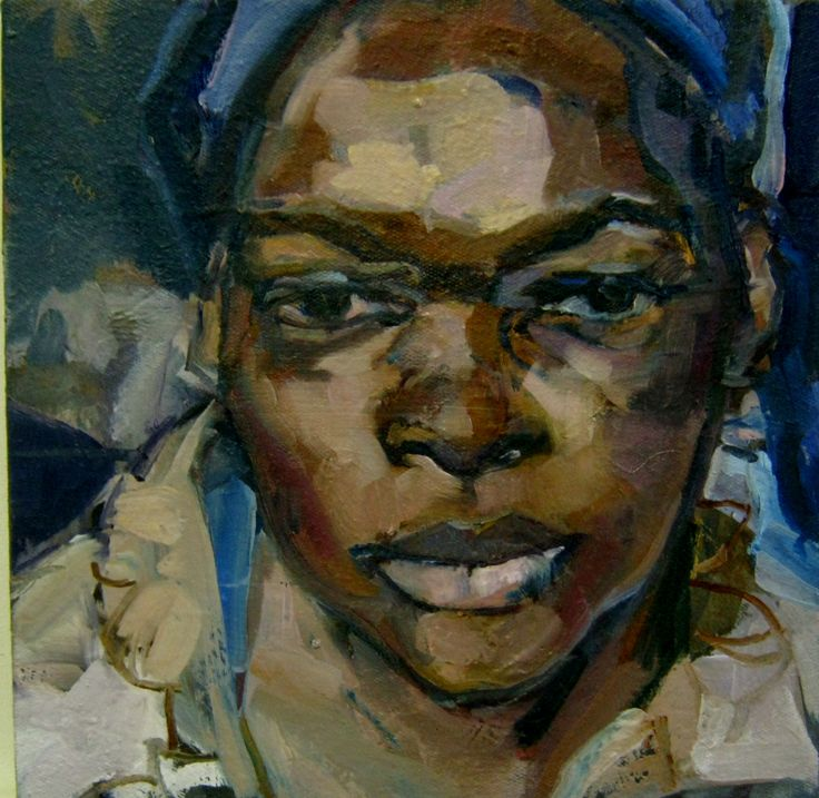 Pascale Chandler :Title 'Bongi' painting a few days after she passed away in 2010