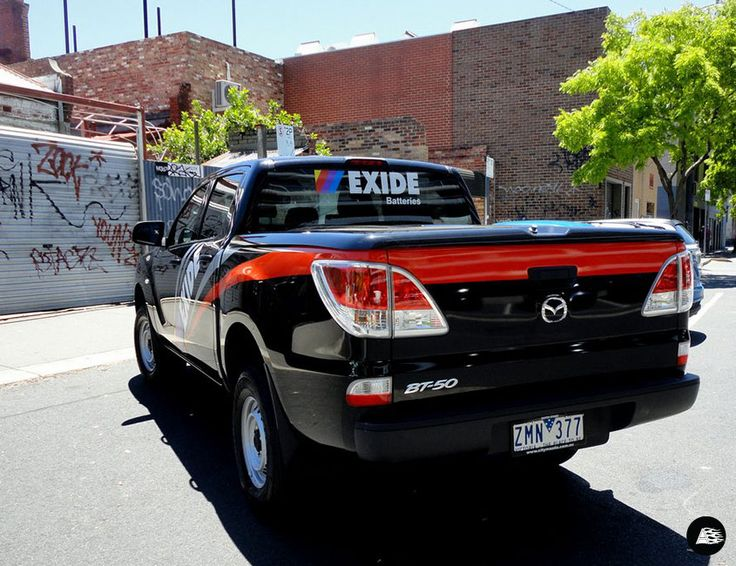 Exide Batteries, Mazda BT-50, Vehicle Wrap, Striped Decal