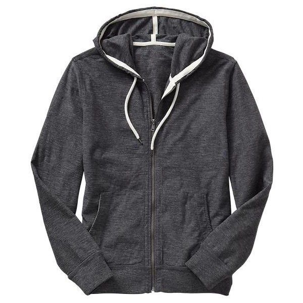 Gap Mens Slub Cotton Zip Up Hoodie - dark graphite grey ($38) ❤ liked on Polyvore featuring men's fashion, men's clothing, men's hoodies, mens grey hoodie, mens zip up hoodies, mens zip up hoodie, mens zip front hoodie and mens hooded sweatshirts