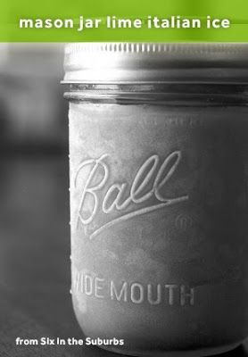 Mason Jar Italian Ice (only 3 ingredients!)