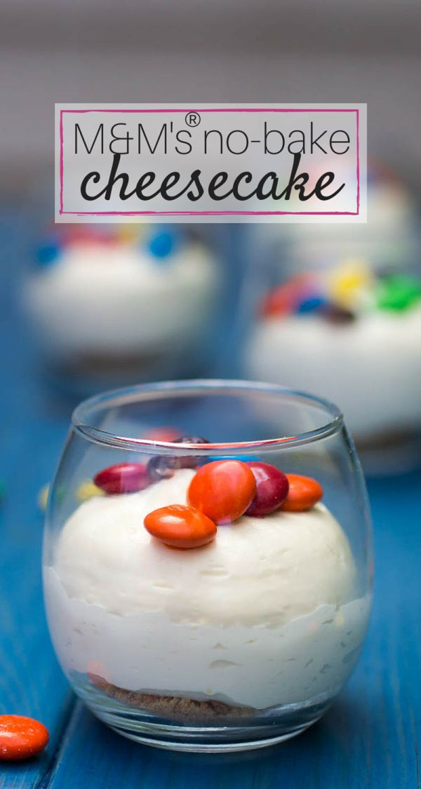 No-Bake M&M'S Cheesecake is a quick and easy recipe for any night of the week!