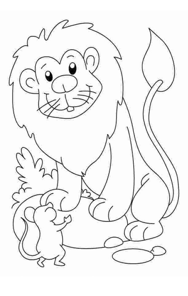 Lion And Mouse Coloring Page Lion Coloring Pages Lion And The Mouse Animal Coloring Pages