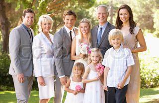 Familie-Gruppen på bryllup