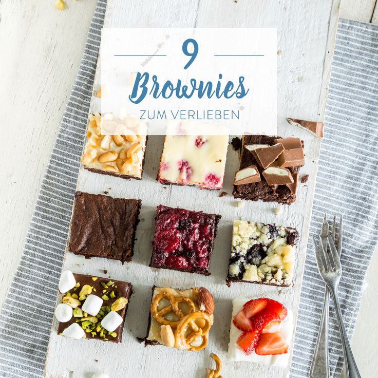 Brownies sind nicht einfach nur Schokolade. Brownies sind Frischkäse, Erdnussbutter, Karamell, ... So machst du aus 1 Grundteig 9 Varianten.