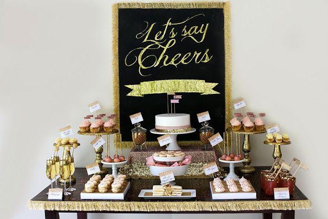 Little Big Empresa | O Blog: Elogios, vamos celebrar, A festa de ouro e Glitter por detalhes Doce