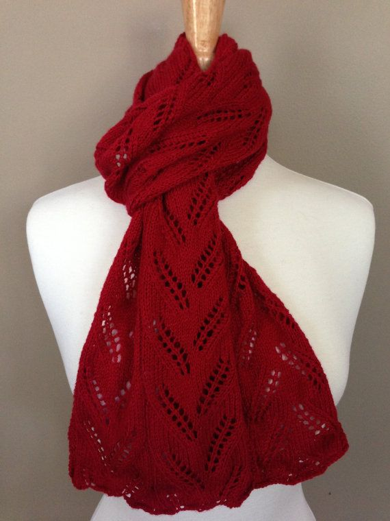 The Wedgemere Lace Scarf  PDF Pattern by KnotYourAvgKnits on Etsy