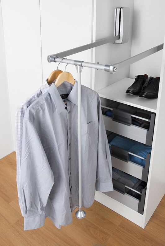 15 Best Pull Down Wardrobe Rail Images On Pinterest | Wardrobe Rail,  Dressing Rooms And Laundry Room