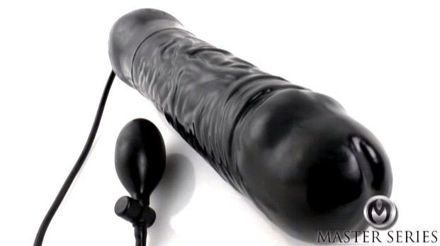 """Master Series Leviathan Giant Inflatable 14"""" Silicone Dildo With Veiny Texture"""