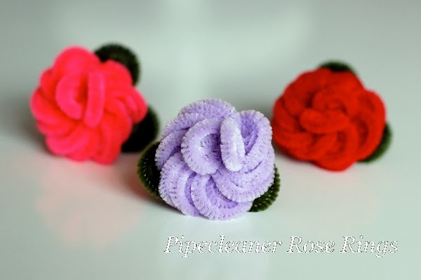 Pipe cleaner roses - tutorial