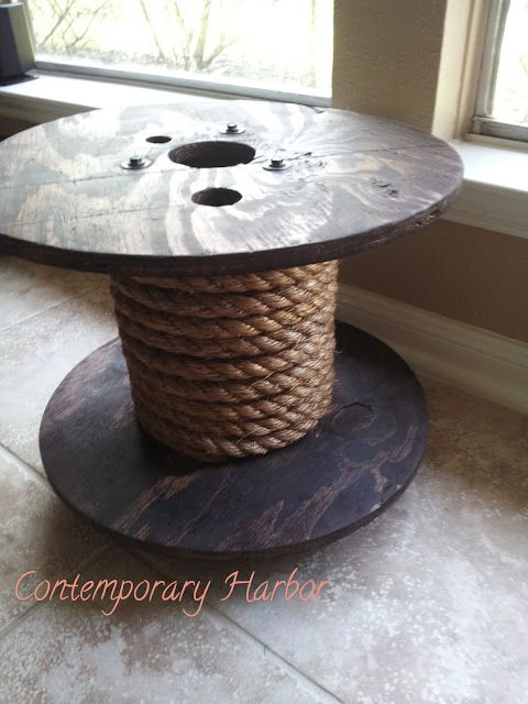 Spool Table... with a glass finish on top... I would love it!