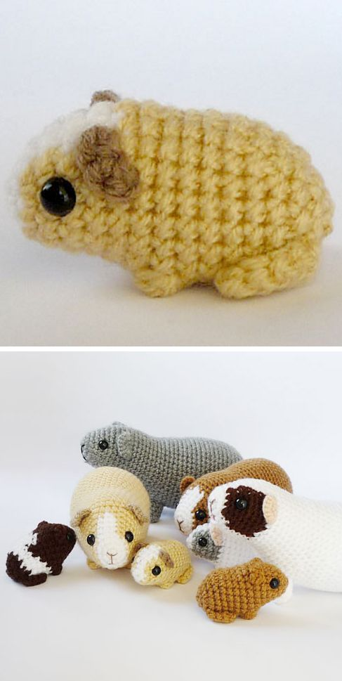 DIY Guinea Pig Crochet Pattern. I think Cash (my guinea pig) could use some friends