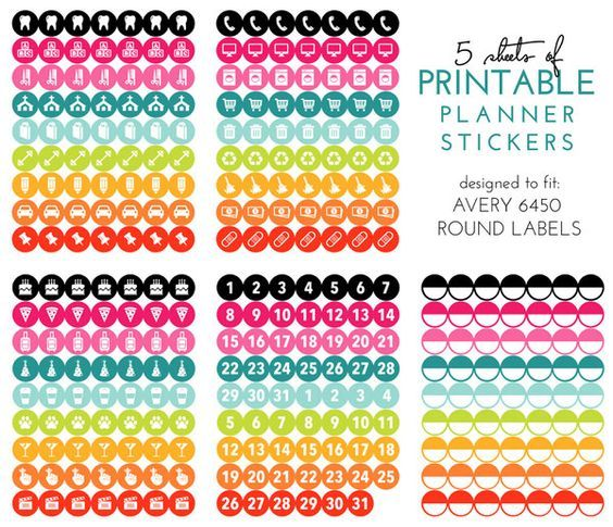 FREE Ready-to-Print Planner Stickers