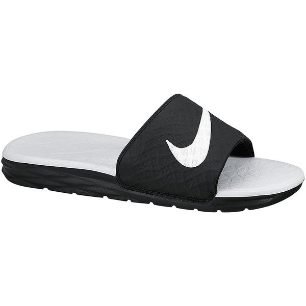 e14e05cc2 ... usa nike benassi solarsoft womens slide sandals 30 liked on polyvore  featuring shoes sandals nike slide