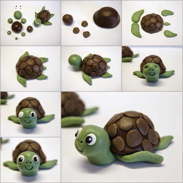 tutoriales de manualidades de tortugas con porcelana fria - Buscar con Google
