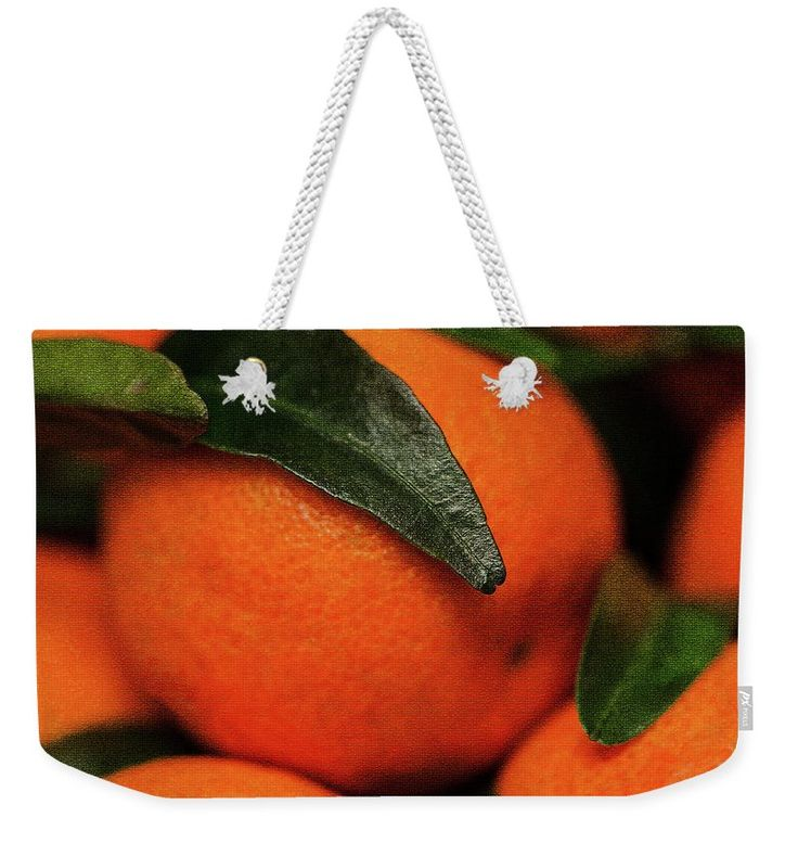 Svetlana Iso Weekender Tote Bag featuring the photograph Sweet Sun In The Peel by Svetlana Iso #SvetlanaIso  #SvetlanaIsoFineArtPhotography #Photography #ArtForHome  #InteriorDesign #FineArtPrints   #citrus #symbol #gold #vitamin  #orange #bag