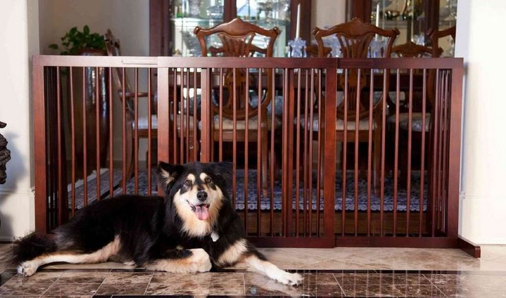 Pet Gate Dog Wood Slide Fence Large-Tall Wide Baby Safety ...