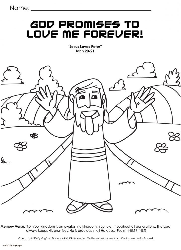 24+ God keeps his promises coloring page free download