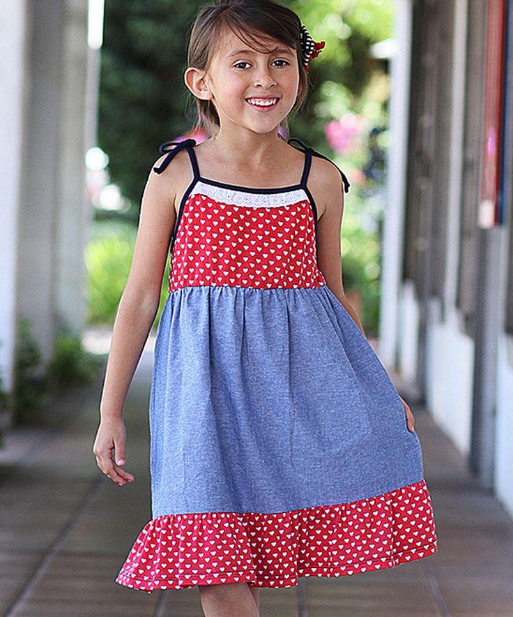 Red Heart Stripe Ruffle Dress - Toddler by Freckles + Kitty #zulily #zulilyfinds