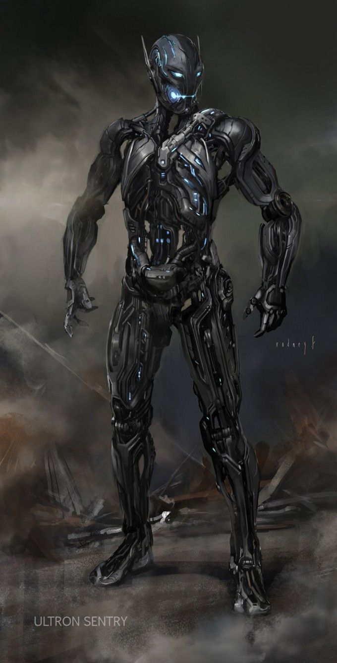 """Concept art for an Ultron Sentry from Marvel's """"Avengers - Age of Ultron"""" (2015)"""