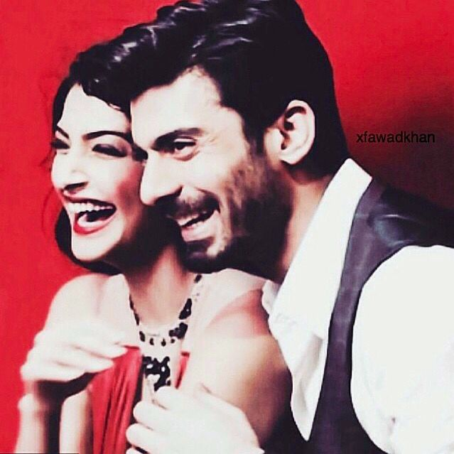Sonam and Fawad. Love his smile