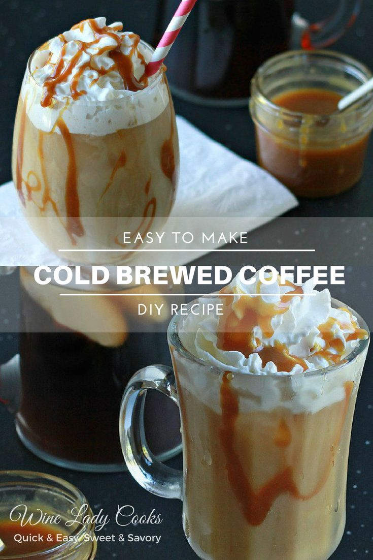 Easy How To Make Cold Brewed Coffee DIY Recipe concentrate, no special equipment needed. #icedcoffee #coldbrew #coffee #summer #drinks
