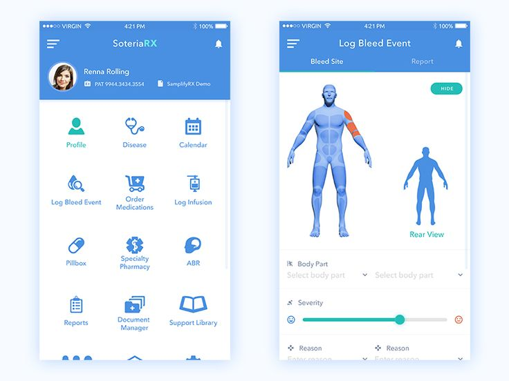 Medical mobile app by Creative jeff
