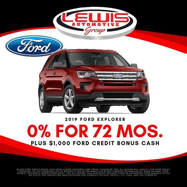 Get 0 Apr For 72 Months Plus 1 000 Ford Credit Bonus Cash On A