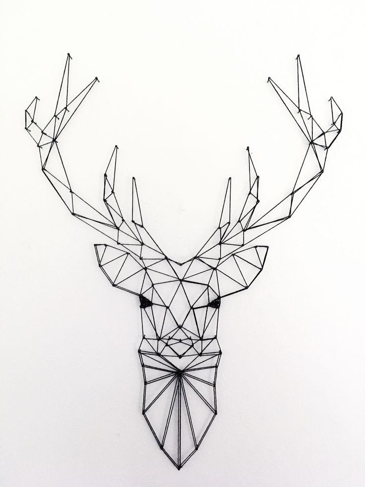 #deer #geometric #geometricdeer #geometricanimals #handmade #stringart