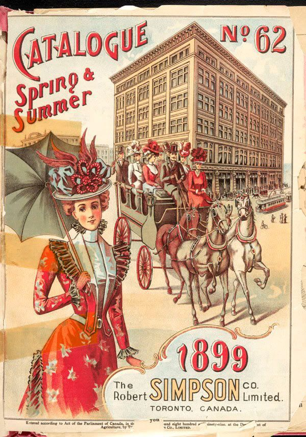 simpsons (now hudsons bay building) catalogue, 1899