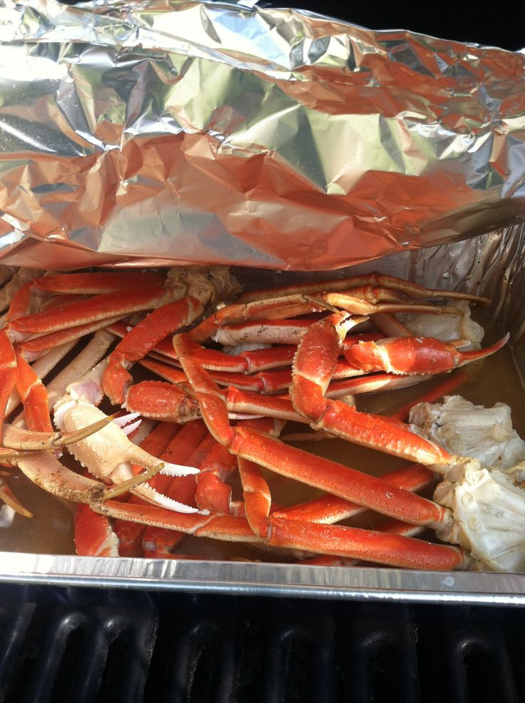 Seafood-fest 2013: Snow crab legs  steamed on the grill in old bay & beer