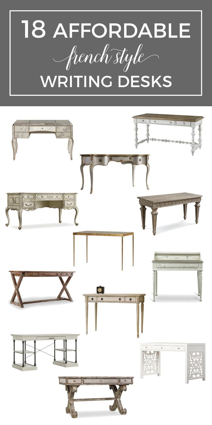 The French Desk 18 Affordable French Style Writing Desks French Style Writing Desk French Style Desk French Desk