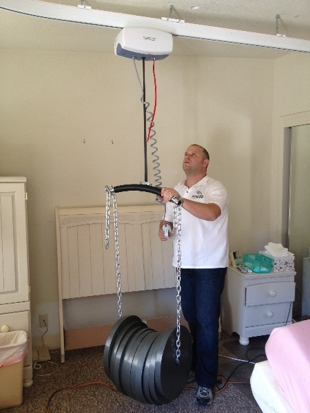 Overhead Ceiling Lift Weight Testing Overhead Patient