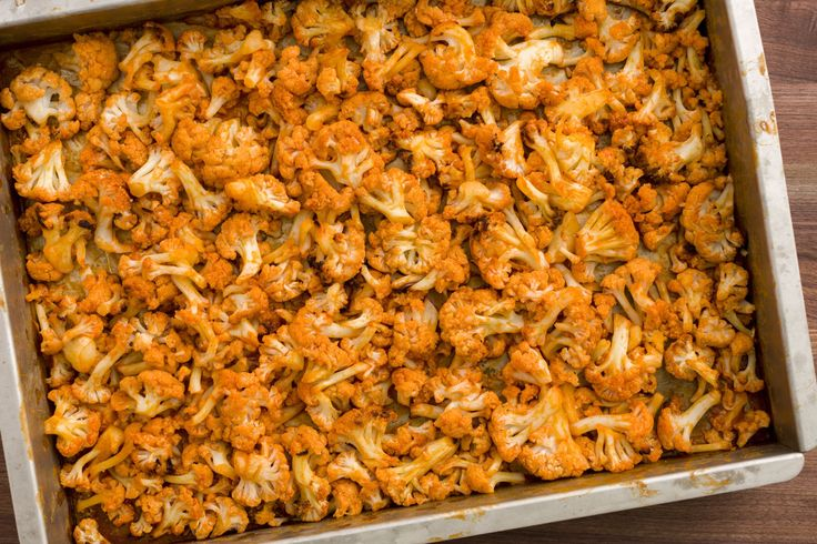 Buffalo Roasted Cauliflower