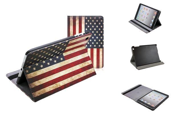 iPad Mini (Retina) USA Book Case met vintage Amerikaanse vlag