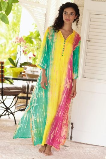 Rainbow Silk Santiago Caftan