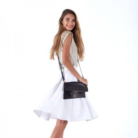 Black Leather Convertible Crossbody Bag | Sseko Designs
