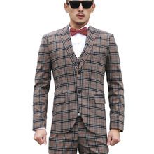 Fashion mens clothing gray plaid suit 3 piece suit+vest+pants business suits casual male slim blazers terno masculino slim 260     Tag a friend who would love this!     FREE Shipping Worldwide     #Style #Fashion #Clothing    Buy one here---> http://www.alifashionmarket.com/products/fashion-mens-clothing-gray-plaid-suit-3-piece-suitvestpants-business-suits-casual-male-slim-blazers-terno-masculino-slim-260/